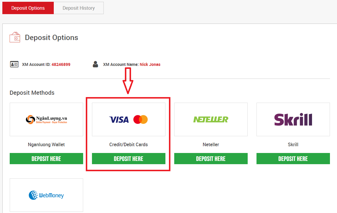 How to Deposit Money in XM